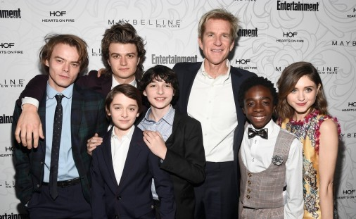 Parte del reparto de Stranger Things